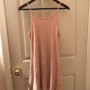 Topshop baby pink knit dress